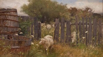 "Painting ""Back of Nichols' Barn, 'Sconset"" by George Inness"